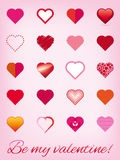 Valentine's Day Greeting Card Vector Illustration Stock Images