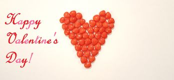 Valentine`s Day Greeting Image With Cinnamon Candy Heart Candy royalty free stock photos