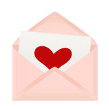 Valentine's day greeting letter Royalty Free Stock Image
