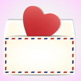 Valentine's day greeting letter Stock Photography