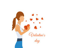 Valentine's day greeting letter. Royalty Free Stock Photo