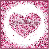 Valentine's Day. Greetings card Royalty Free Stock Photos