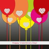 Valentine's Day greetings card Royalty Free Stock Photos