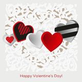 Decorated hearts Stock Photography