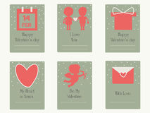 Valentine's day greetings  card. Wedding card. Royalty Free Stock Photos