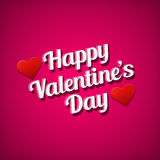 Valentine's day greetings card. White text over pink background. Stock Photography