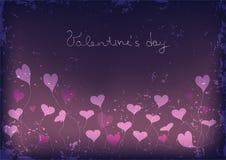 Valentine's day grunge background Stock Image