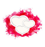 Valentines day grunge card with beautiful hearts Stock Photography