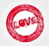 Valentine's Day grunge rubber stamp vector Stock Image
