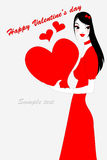 Valentine's day gteeeting card Stock Images