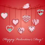 Valentine's day hanging pink heart. Royalty Free Stock Image