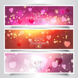Valentine's Day headers Stock Photo