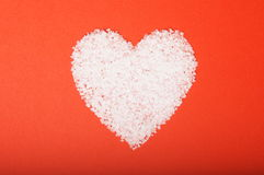 Valentine's day heart. Salt in a heart shape for valentine's day Stock Images