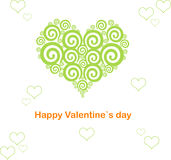 Valentine's day heart abstract. Valentine`s day card. Vector illustration stylized green heart. Design of Dreamstime heart for Valentine`s day Royalty Free Stock Photos