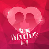 Valentine`s Day Heart and Abstract Background. Vector Illustration, Valentine`s Day Heart and Abstract Background, Format EPS 8 Stock Images