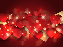 Valentine's day heart background Royalty Free Stock Images