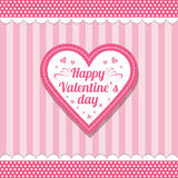 Valentine's Day. Heart Background for valentine's day greeting card Royalty Free Stock Photo
