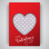 Valentine's Day heart background Stock Photography