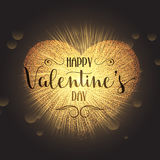 Valentine's Day heart background Royalty Free Stock Image