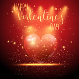 Valentine's Day heart background Royalty Free Stock Photo