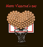 Valentine`s Day and Heart from basketball balls Royalty Free Stock Image