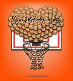 Valentine`s Day and Heart from basketball balls Royalty Free Stock Photo