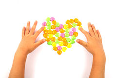 Valentine's Day Heart Candy Stock Image