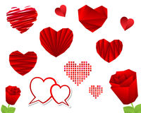 Valentine's Day Heart Collection. Valentine Day Heart Collection. Vector illustration Royalty Free Stock Photos