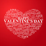 Valentine's Day, heart with a congratulation inside. Valentine's Day, heart the text of a congratulation written inside. Vector illustration Stock Illustration
