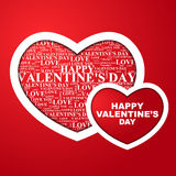 Valentine's Day, heart with a congratulation inside. Valentine's Day, heart the text of a congratulation written inside. Vector illustration Vector Illustration