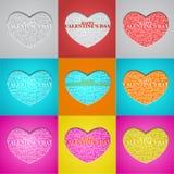 Valentine's Day, heart with a congratulation inside. Valentine's Day, heart the text of a congratulation written inside. Vector illustration. Set Vector Illustration