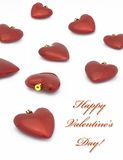 Valentine's day heart decor on white. Isolated stock photography