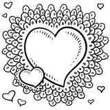 Valentine's Day heart with elaborate lace border Stock Photography