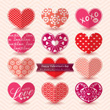 Valentine's day Heart Elements pattern Stock Photo