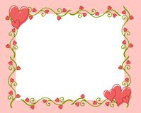 Valentine's Day Heart Flower Vine Frame 2 stock illustration