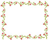 Valentine's Day Heart Flower Vine Frame Stock Images