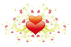 Valentine's Day Heart with flowers Royalty Free Stock Photo