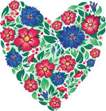 Valentine's Day. heart of flowers. valentine. Stock Images