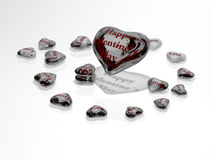 Valentine's Day - heart of glass Royalty Free Stock Images