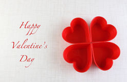 Valentine's day heart greeting card background. On white Royalty Free Stock Photos