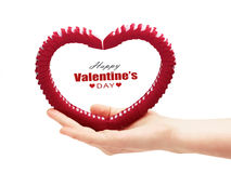 Valentine's day heart in hand Royalty Free Stock Photo
