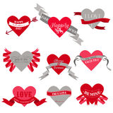 Valentines Day Heart Labels Royalty Free Stock Photography