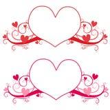 Valentine's Day Heart Logo or Labels vector illustration