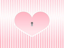 Valentine's day heart love background romance vector. Valentine's day pink heart greeting card love background romance vector Stock Images