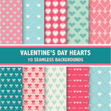Valentine's Day Heart Patterns Royalty Free Stock Photography