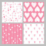 Valentine's Day Heart Patterns Stock Image