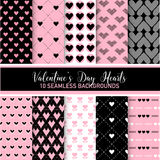 Valentine's Day Heart Patterns Royalty Free Stock Photos