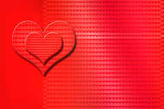 Valentine`s day, heart. Red heart on red background Valentine`s day, drawing Royalty Free Stock Photo