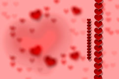 Valentine`s day, heart. Red heart on red background Valentine`s day, drawing Royalty Free Stock Photography