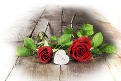 Valentine's day. Heart and red roses Stock Photography